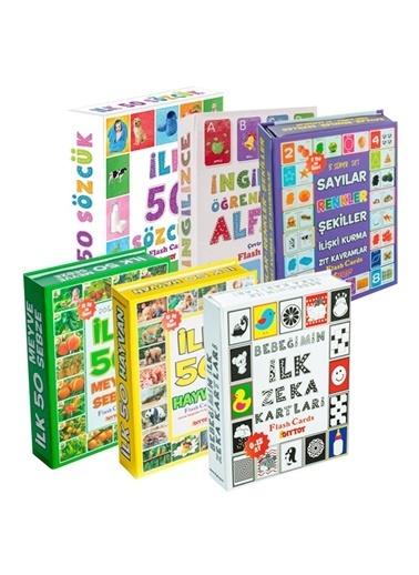 Morhipo kitap Flash Cards 6'lı Eğitim Seti (Diy-Toy Yayınları) Renkli